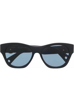 Lanvin Square-frame logo-plaque sunglasses
