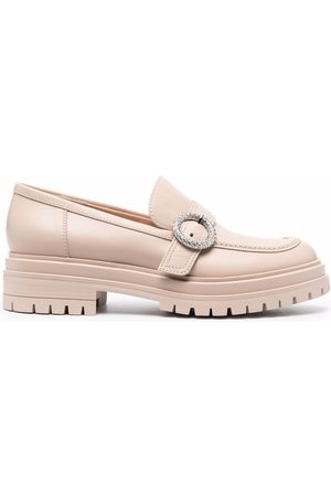 Gianvito Rossi Buckled chunky loafers