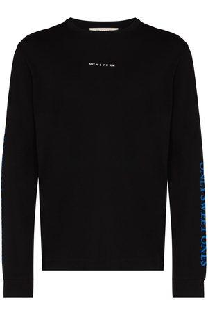 1017 ALYX 9SM Muži S dlouhým rukávem - Horned print long sleeve T-shirt