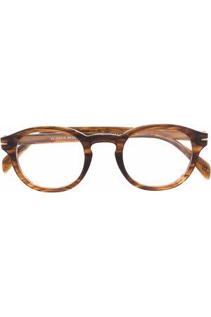 DB EYEWEAR BY DAVID BECKHAM Sluneční brýle - Tortoiseshell-effect round-frame glasses