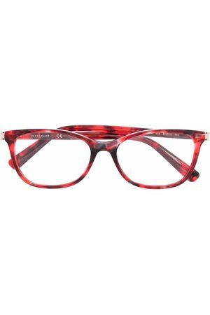 Longchamp Ženy Sluneční brýle - Tortoiseshell rectangle-frame glasses