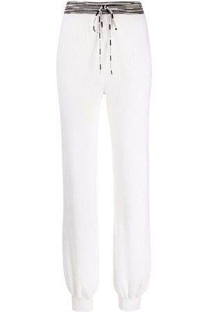 Missoni Ribbed-knit cashmere track trousers
