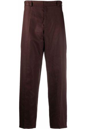 Jil Sander Muži Společenské - Pressed-crease cotton tailored trousers