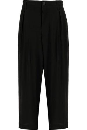 YOHJI YAMAMOTO Muži Rovné nohavice - High-waisted straight leg trousers