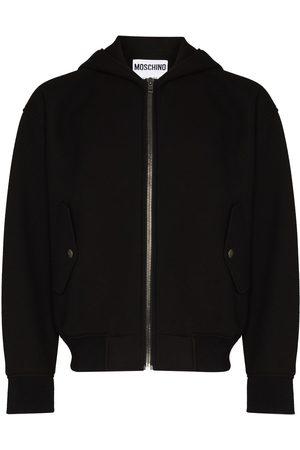 Moschino Hooded zip-up bomber jacket