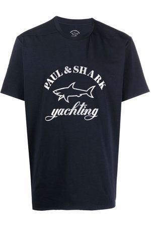 Paul & Shark Muži S krátkým rukávem - Logo-print stretch-cotton T-shirt