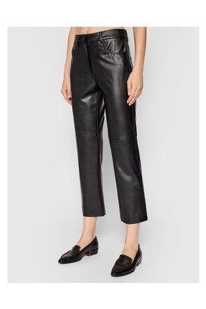 MARELLA Kalhoty z imitace kůže