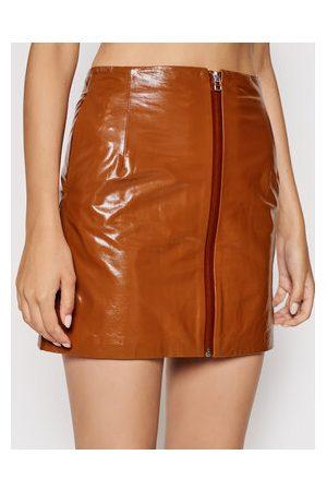 REMAIN Ženy Krátké - Kožená sukně