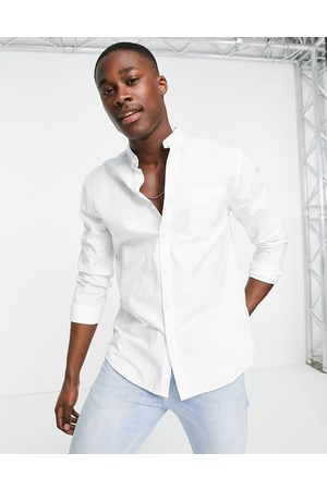 New Look Long sleeve organic cotton oxford shirt in white
