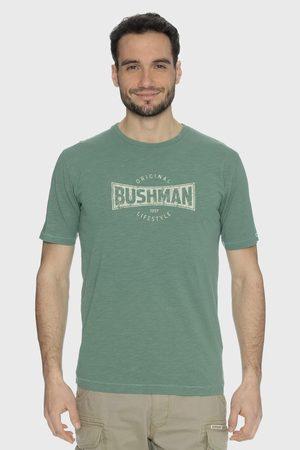 BUSHMAN Muži Trička - Zelené tričko Symbol