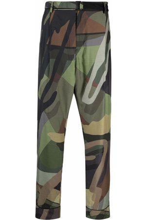 SACAI Geometric straight-leg trousers