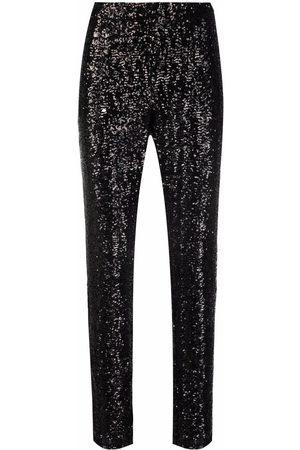 Les Hommes Ženy Strečové - Stretch-fit sequin embellished trousers