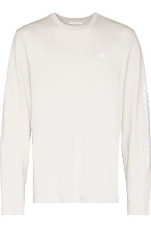 Helmut Lang Muži S dlouhým rukávem - Logo print long-sleeve T-shirt