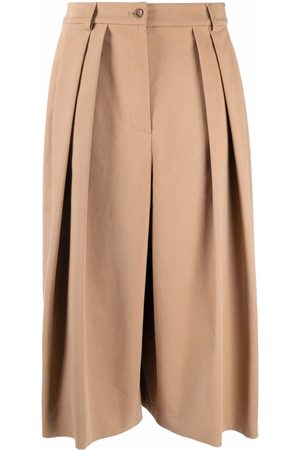Alberta Ferretti Ženy Culottes - High rise pleated culottes