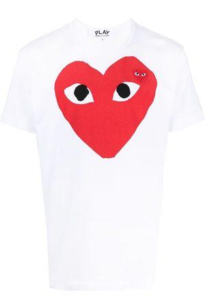 Comme des Garçons Muži S krátkým rukávem - Heart logo T-shirt