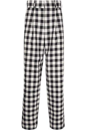 Edward Crutchley Gingham check print trousers