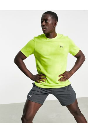 Under Armour Training Rival terry print t-shirt in yellow