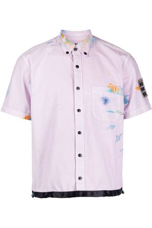 ROMEO HUNTE Paint-effect short sleeve shirt