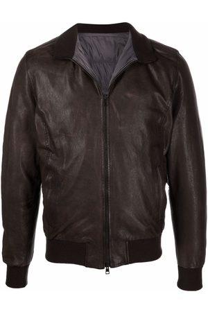 BARBA Nick leather bomber jacket