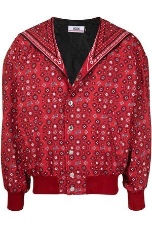 GCDS Cat-print floral bomber jacket