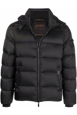 MOORER Muži Péřové bundy - Zip-up puffer jacket