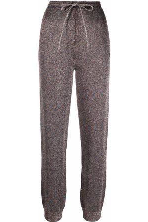 Missoni Ženy Tepláky - Drawstring knitted trousers