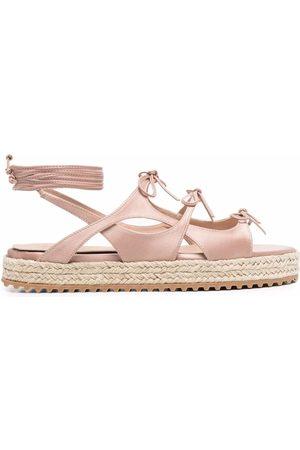 Scarosso Paula multi-tie espadrille sandals
