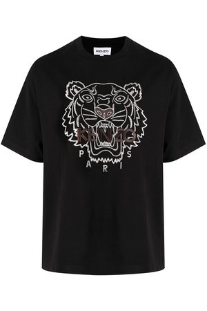 Kenzo Tiger-embroidered cotton T-shirt