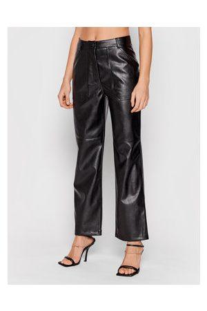 NA-KD Ženy Kožené kalhoty - Kalhoty z imitace kůže