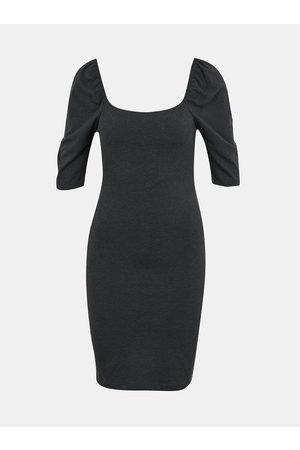 VERO MODA Tmavě šedé pouzdrové šaty Gloria