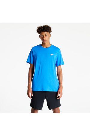 Nike Muži Trička - Sportswear Club Men's T-Shirt Signal Blue/ White
