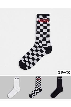 Vans Muži Ponožky - Classic 3-pack socks in multi check