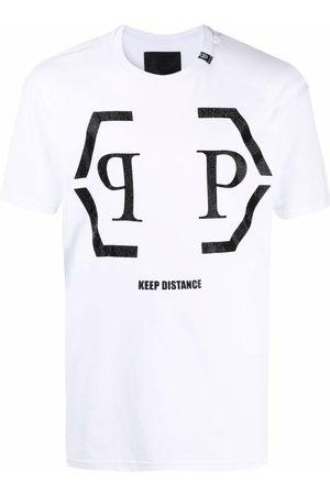 Philipp Plein S krátkým rukávem - Hexagon logo cotton T-shirt