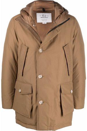 Woolrich Muži Péřové bundy - Button-up padded hooded coat