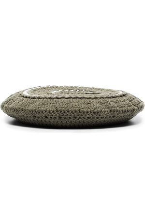 Ganni Ženy Klobouky - Disc-embellished crochet beret
