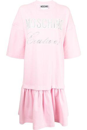 Moschino Layered logo-print T-shirt dress