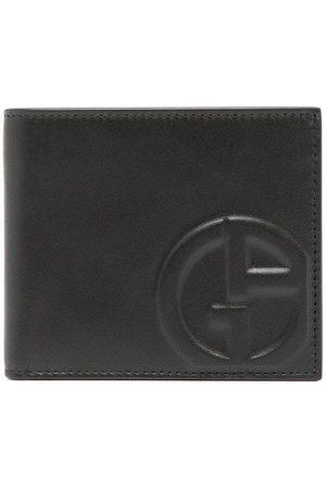 Armani Muži Peněženky - Embossed-logo leather wallet