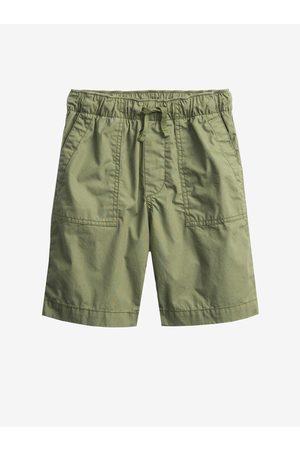 GAP Chlapci Kraťasy - Zelené klučičí dětské kraťasy pull-on shorts