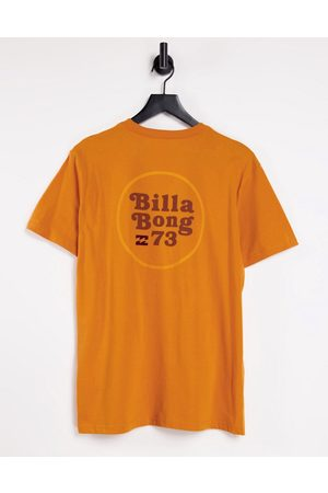Billabong Walled t-shirt in orange with front print