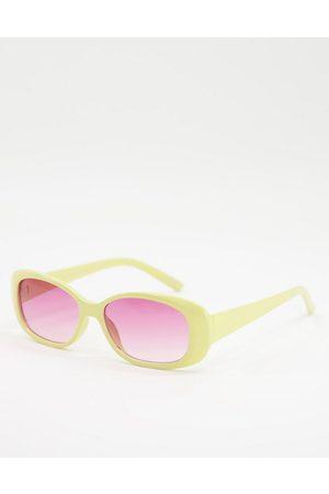 ASOS Ženy Sluneční brýle - Oval sunglasses with pink lens
