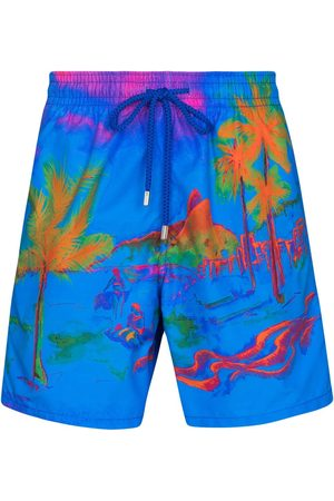 Vilebrequin Muži Šortky - Moorea palm print swim shorts