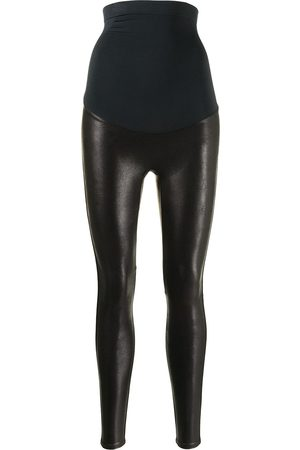 Spanx High-waisted faux-leather leggings