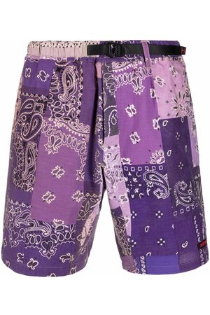 READYMADE Patchwork paisley shorts