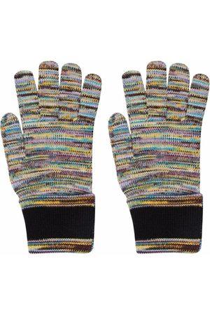 Missoni Ženy Rukavice - Striped-knit gloves