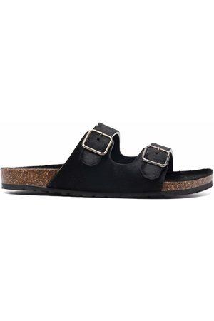 Saint Laurent Buckled slide sandals