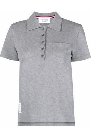 Thom Browne Ženy S límečkem - Chest patch pocket polo shirt