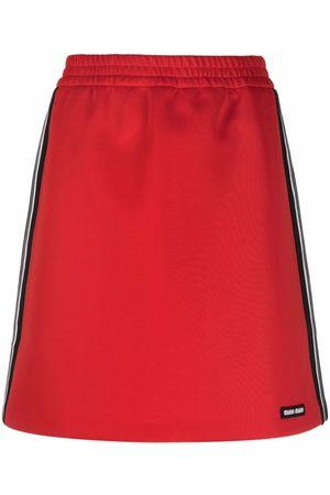 Miu Miu Side-stripe A-line skirt