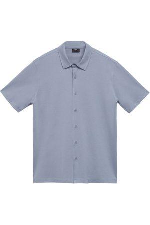 MANGO MAN Muži S límečkem - Tričko 'Bonheur