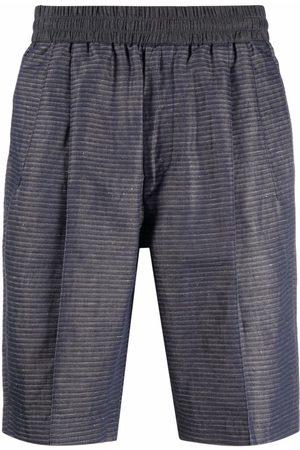 Emporio Armani Striped elasticated-waist bermuda shorts