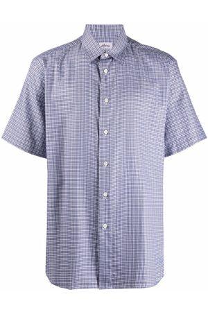 BRIONI Muži S krátkým rukávem - Checked short sleeved shirt
